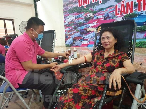 Nutrida participacion en donacion de sangre en provincia de Bac Giang hinh anh 1