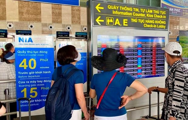 Aeropuerto Internacional de Noi Bai cambia formulario de informacion para pasajeros hinh anh 1