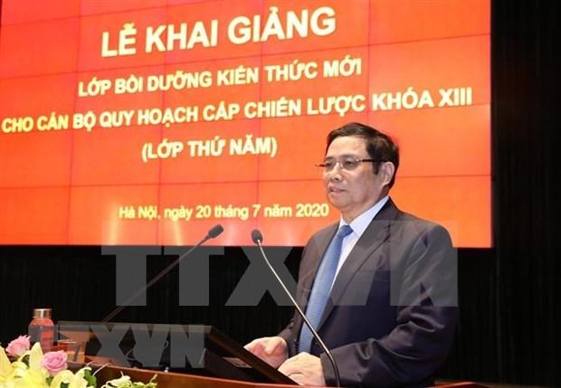 Inauguran curso de formacion de funcionarios en planificacion estrategica hinh anh 1