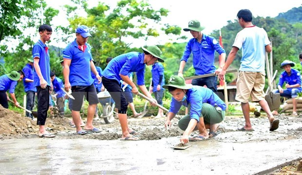 Jovenes de Tien Giang desarrollan actividades practicas hacia la comunidad hinh anh 1