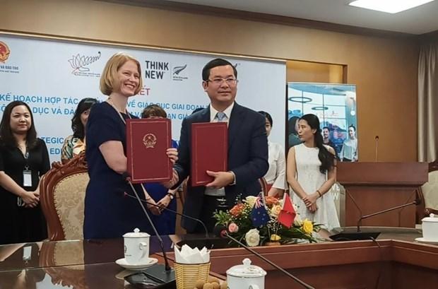 Vietnam y Nueva Zelanda renuevan Plan de cooperacion estrategica en educacion hinh anh 1