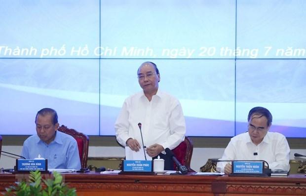 Premier vietnamita insta a acelerar el desembolso de capital publico en Ciudad Ho Chi Minh hinh anh 1