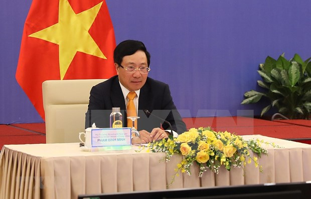 Efectuan reunion virtual del Comite Directivo de Cooperacion Bilateral Vietnam-China hinh anh 1