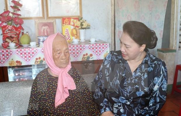 Presidenta de Parlamento vietnamita realiza visita de trabajo en Ba Ria-Vung Tau hinh anh 1