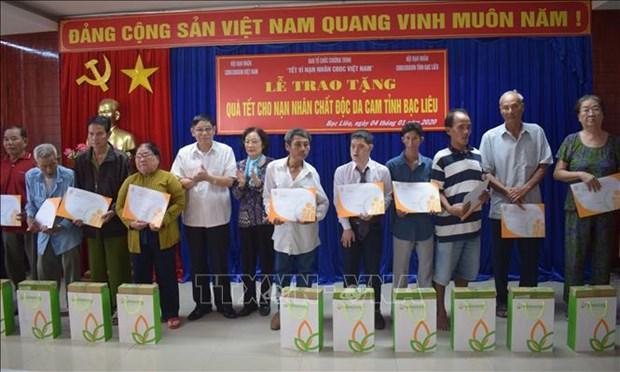 Apoyan a las victimas del Agente Naranja en provincia vietnamita de Bac Lieu hinh anh 1
