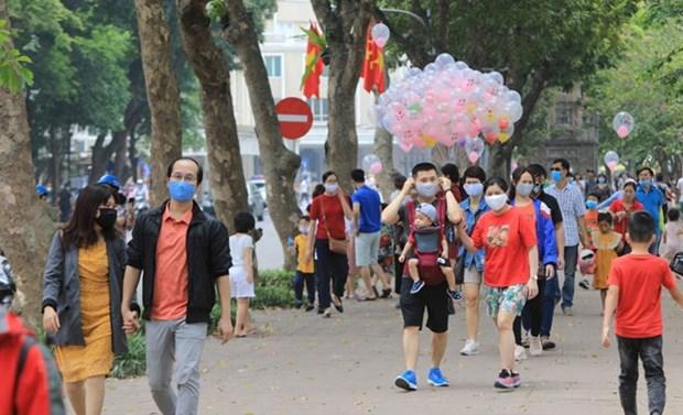 Hanoi recibe casi 1,2 millones de turistas en julio hinh anh 1