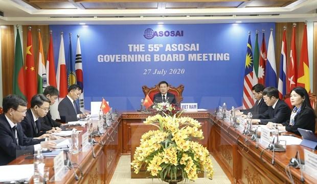 Celebran en linea 55 Reunion de Organizacion Asiatica de Entidades Fiscalizadoras Superiores hinh anh 1