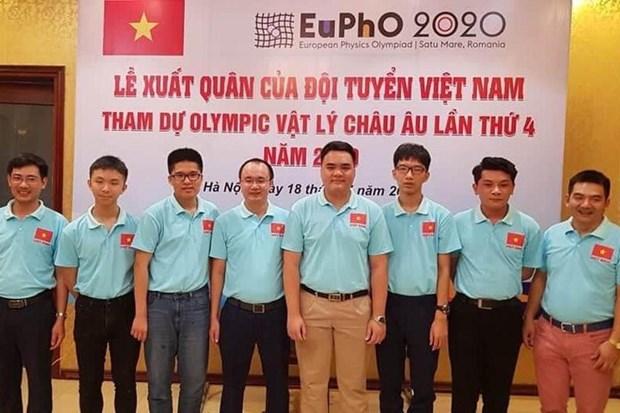 Gana Vietnam medalla oro en Olimpiada Europea de Fisica 2020 hinh anh 1