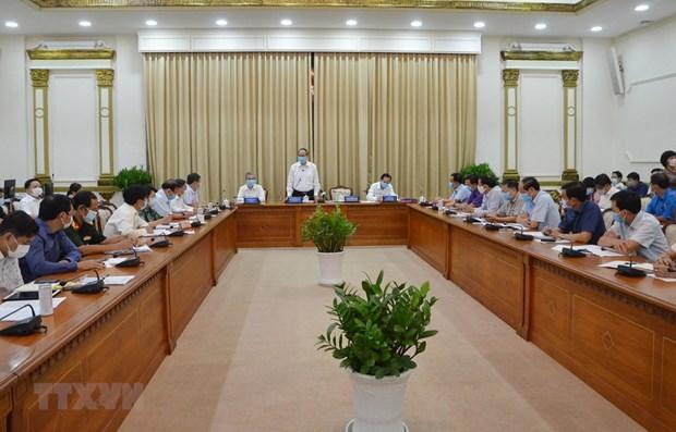 Ciudad Ho Chi Minh intensifica medidas preventivas contra el COVID-19 hinh anh 1