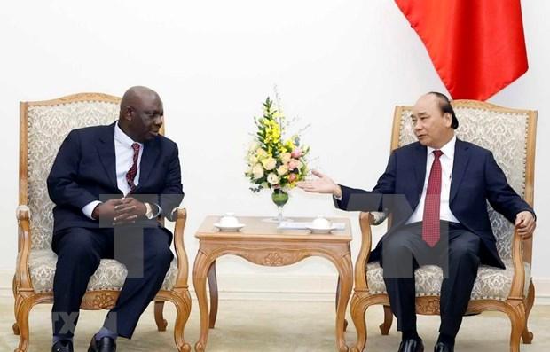 Premier de Vietnam apoya el impulso de los vinculos comerciales con Nigeria hinh anh 1