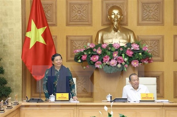Discuten preparativos para el segundo Congreso nacional de minorias etnicas de Vietnam hinh anh 1