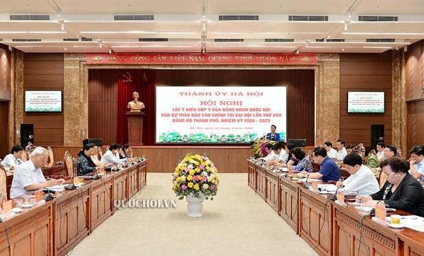 Maxima legisladora de Vietnam trabaja con dirigentes clave de Hanoi hinh anh 1