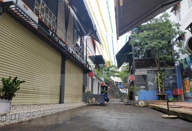 Aplican distanciamiento social en ciudad vietnamita de Buon Ma Thuot para frenar el COVID-19 hinh anh 1