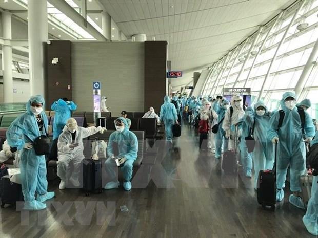 Repatrian a 300 ciudadanos vietnamitas a causa de COVID-19 hinh anh 1