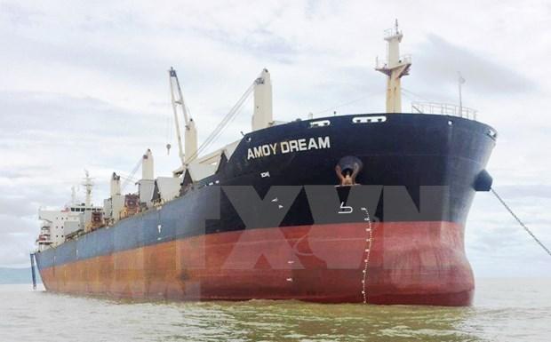 Implementan medidas preventivas del COVID-19 para tripulacion del barco Amoy Dream hinh anh 1
