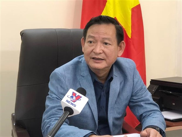 Mision diplomatica de Vietnam apoya a ciudadanos afectados en la explosion en Beirut hinh anh 1