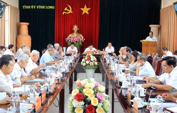 Provincia vietnamita de Vinh Long por perfeccionar liderazgo del Comite partidista hinh anh 1