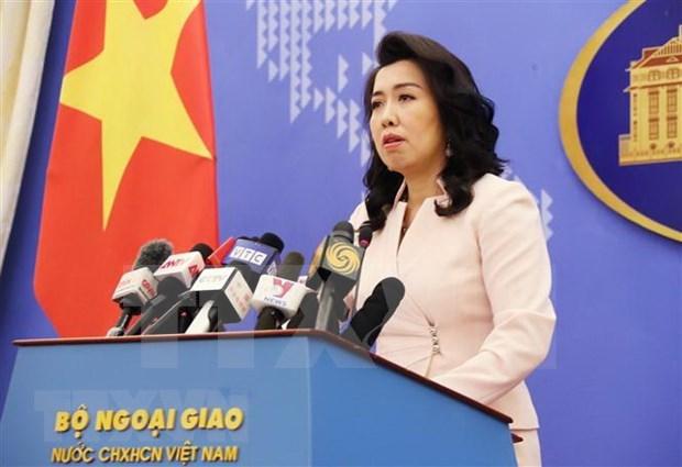 Todas las actividades en Hoang Sa, Truong Sa sin permiso de Vietnam son invalidas, dice portavoz hinh anh 1