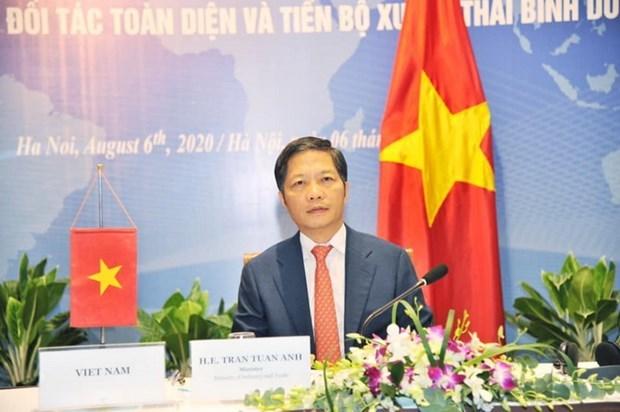 Vietnam participa en reunion en linea del Consejo del Tratado Transpacifico hinh anh 1