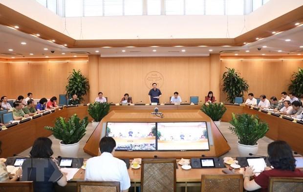 Hanoi despliega medidas urgentes en combate al COVID-19 hinh anh 1