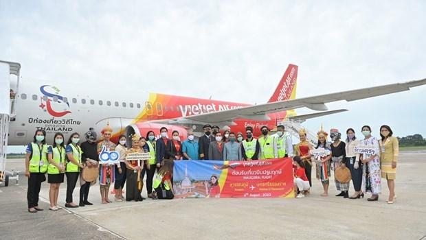 Vietjet Air inaugura vuelo entre Bangkok y Nakhon Si Thammarat hinh anh 1