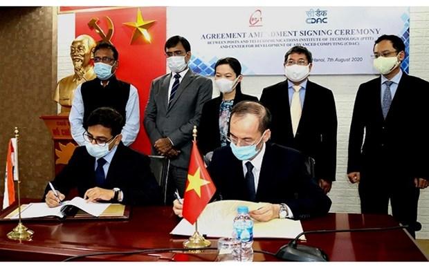 India apoya a Vietnam a establecer centro de desarrollo de software hinh anh 1