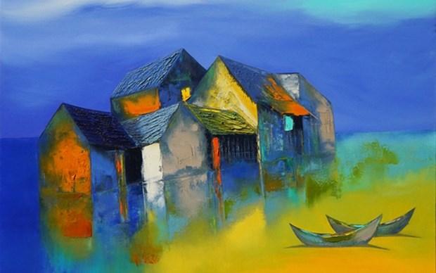 Efectuan en Hanoi exposicion de arte contemporaneo hinh anh 1
