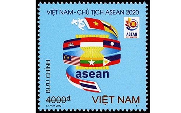 """Emiten juego de timbres """"Vietnam da la bienvenida al Ano ASEAN 2020"""" hinh anh 1"""