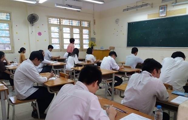 Examen de bachillerato en Vietnam cumple objetivos seguros y justos hinh anh 1