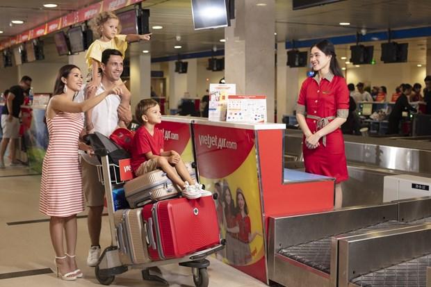 Vietjet ofrece equipaje facturado gratis para pasajeros hinh anh 1