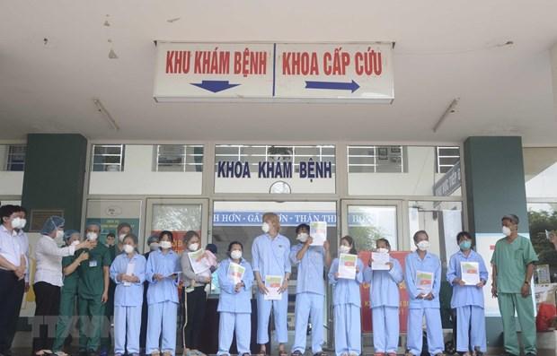 Recuperados otros cinco pacientes del COVID -19 en Da Nang hinh anh 1