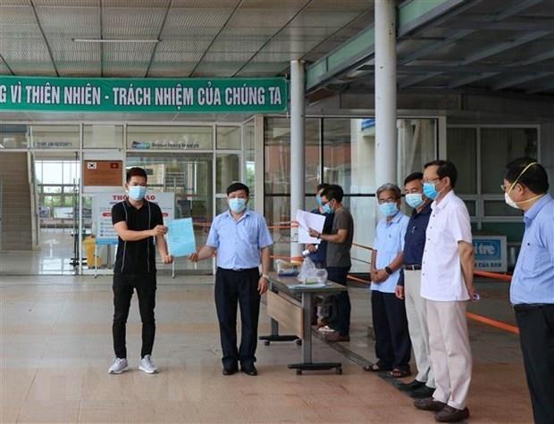 Otros 11 recuperados del COVID-19 en la provincia vietnamita de Quang Nam hinh anh 1