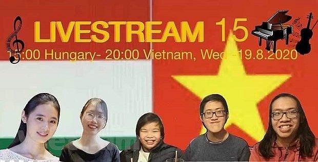 Efectuan concierto en linea con motivo del Dia de Independencia de Vietnam y de Hungria hinh anh 1