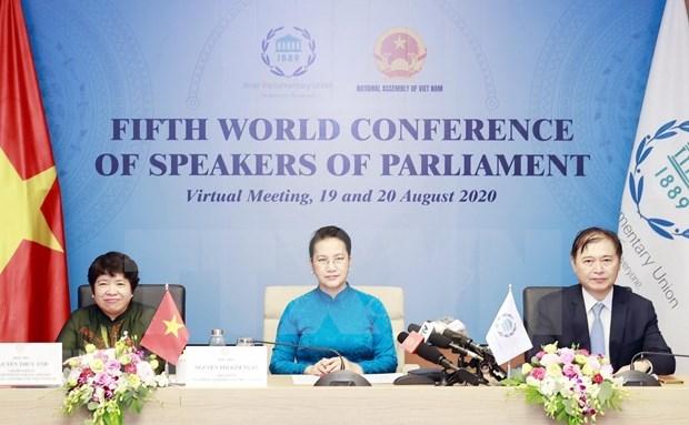 Concluye Conferencia Mundial de Presidentes del Parlamento hinh anh 1