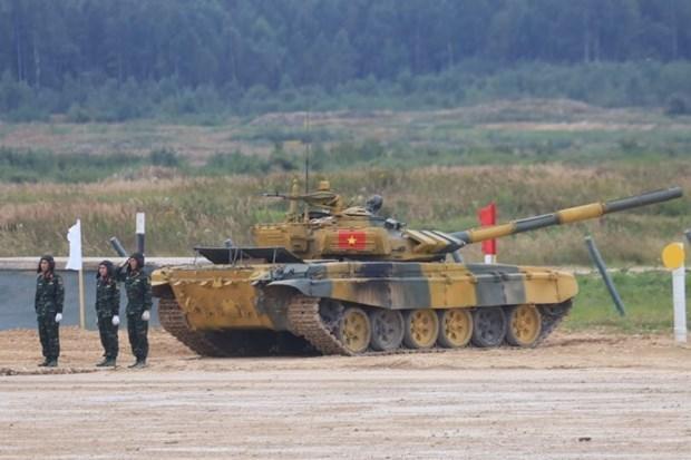 Ocupa Vietnam segundo lugar en la final del biatlon de tanques en Juegos Militares Internacionales 2020 hinh anh 1