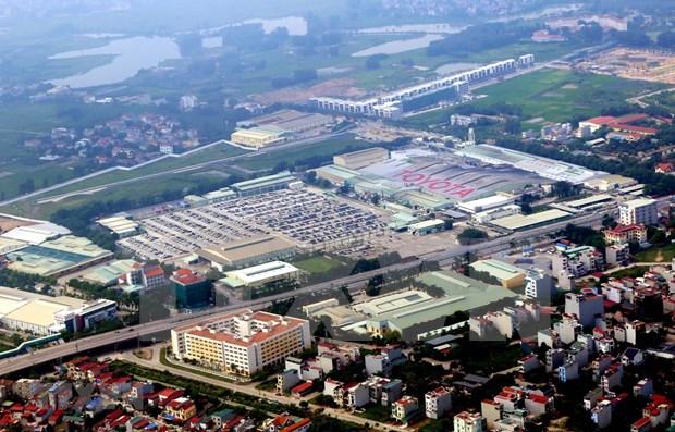 Provincia vietnamita de Vinh Phuc por crear espacios verdes en parques industriales hinh anh 1