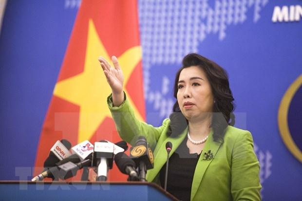 Ejercicios chinos en aguas de Hoang Sa violan soberania de Vietnam, afirma vocera de Cancilleria hinh anh 1