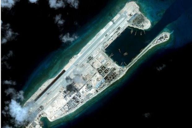 Estados Unidos aplica sanciones a empresas chinas por vinculos con violaciones en Mar de Este hinh anh 1
