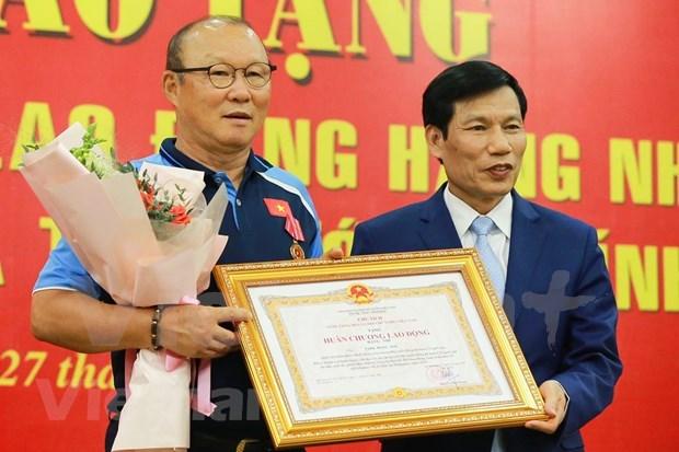 Confieren Orden del Trabajo de segunda clase al entrenador Park Hang-seo hinh anh 1