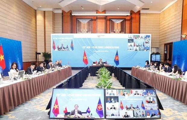 Ministro de Economia de la ASEAN celebran consultas con socios hinh anh 1