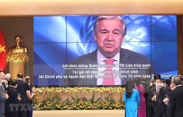 Secretario general de la ONU, Antonio Guterres, felicita a Vietnam por el Dia Nacional hinh anh 1