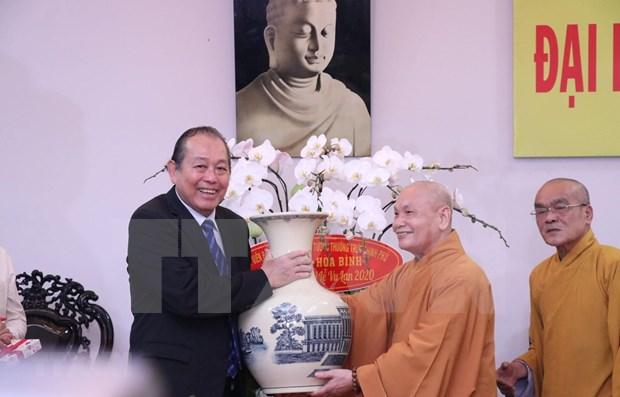 Felicitan a seguidores budistas en Vietnam en ocasion de ceremonia de gratitud Vu Lan hinh anh 1