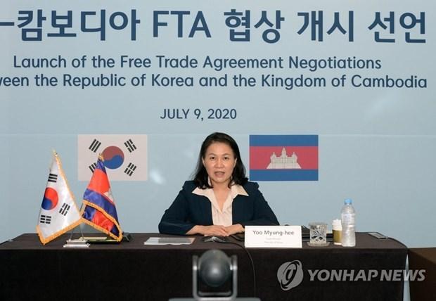 Corea del Sur y Camboya iniciaran segunda ronda de negociaciones del acuerdo de libre comercio hinh anh 1