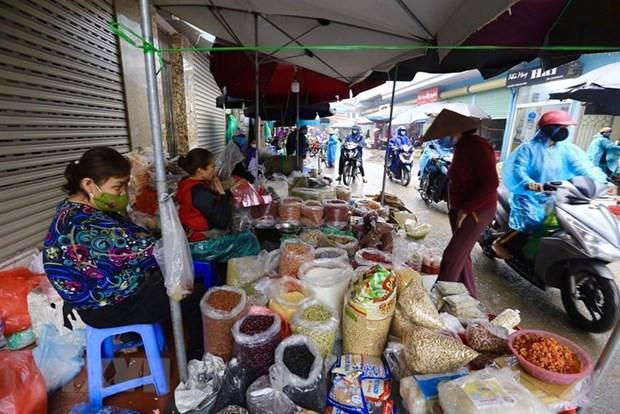 Mercados en Ciudad Ho Chi Minh refuerzan medidas preventivas del COVID-19 hinh anh 1
