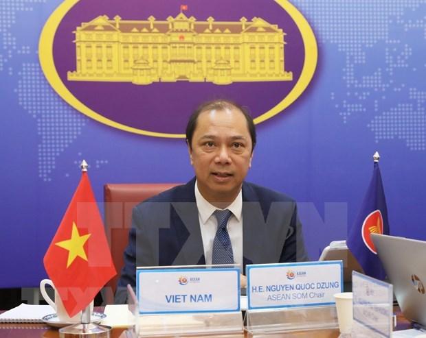 Vietnam preside reunion de altos funcionarios de ASEAN sobre lazos con socios hinh anh 1