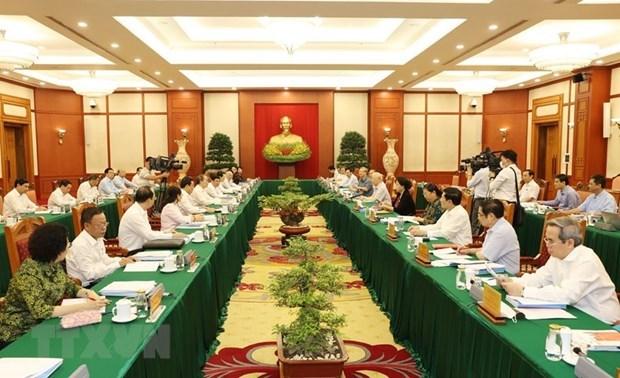 Maximo dirigente partidista preside reunion sobre preparativos de asamblea de Ciudad Ho Chi Minh hinh anh 1
