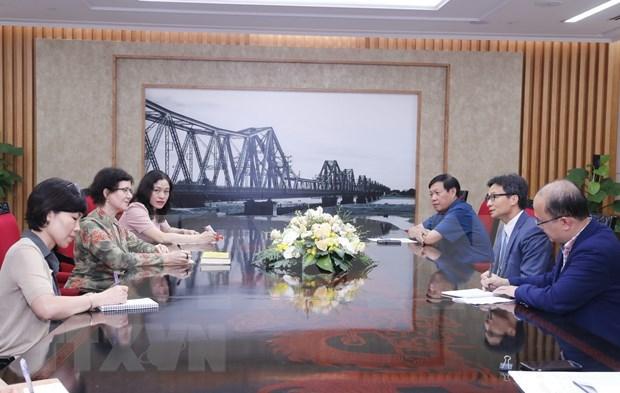 Vicepremier vietnamita destaca cooperacion de ONUSIDA en la lucha contra VIH/SIDA hinh anh 1