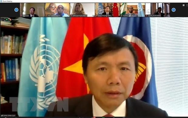Mision de Vietnam en ONU celebra el Dia Nacional hinh anh 1