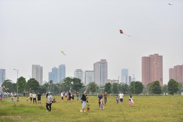 Papalotes vuelan en el cielo de Hanoi hinh anh 1