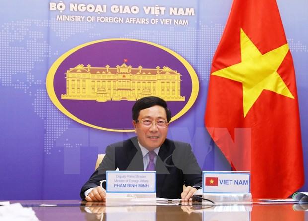 Propone Vietnam medidas en gestion de fronteras ante COVID-19 en reunion de cancilleres de G20 hinh anh 1